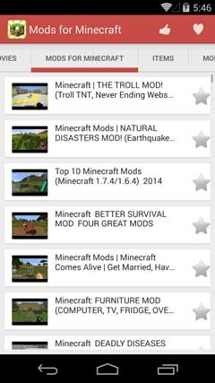 Mods for Minecraft 1.8.0.11